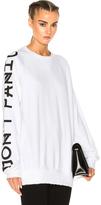 Baja East French Terry Graphic Sleeve Sweatshirt