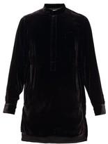 SASQUATCHfabrix. Long-length Velvet Shirt - Mens - Black