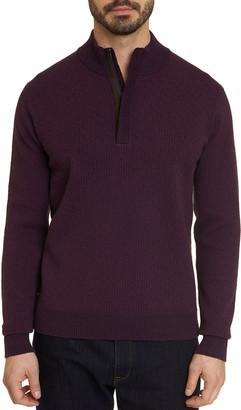 Robert Graham Men's Brennand Mock-Neck Quarter-Zip Sweater