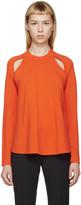 J.W.Anderson Orange Merino Flared Sweater