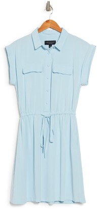 Laundry by Shelli Segal Short Sleeve Button Front Shirt Dress