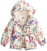Mesinsefra SIN.SE Girls's Winter Graffiti Hooded Outwear Coat 120cm