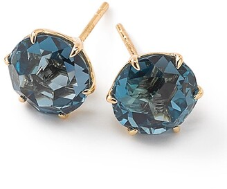 Ippolita 18kt yellow gold Medium Rock Candy London blue topaz studs