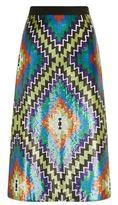 Andrew Gn Sequin Kilim Midi Skirt