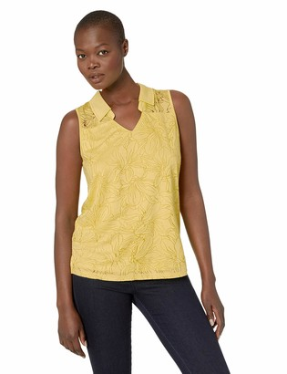 Tribal Women's Sleeveless Polo in Burnout Jersey