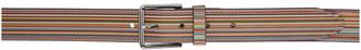 Paul Smith Multicolor Wide Striped Belt