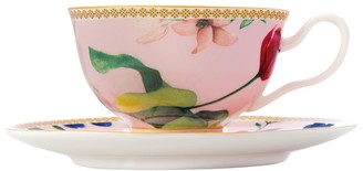 Maxwell & Williams Teas & C's Contessa Footed Cup & Saucer 200ml Rose Gift Boxed