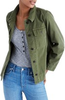 Madewell Women's Northward Crop Army Jacket