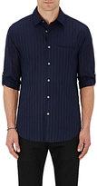 John Varvatos Men's Roll-Cuff Cotton Shirt-BLACK