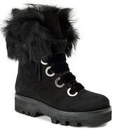 Rachel Zoe Vayl Rabbit Fur Trimmed Kid Suede Ankle Boots