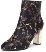 Dorothy Perkins Womens Black 'Alyce' Jacquard Ankle Boots- Black