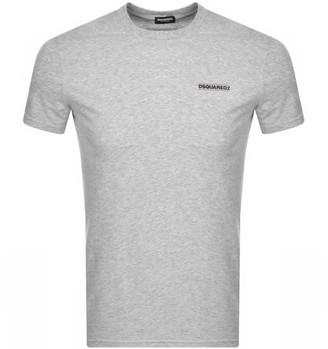 DSQUARED2 Chest Logo Short Sleeved T Shirt Grey