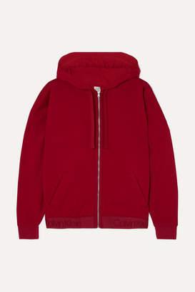 Calvin Klein Underwear Cotton-blend Fleece Hoodie - Crimson