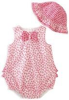Absorba Girls' Bubble Romper & Hat Set - Baby