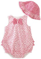Absorba Infant Girls' Bubble Romper & Hat Set - Sizes 0-9 Months