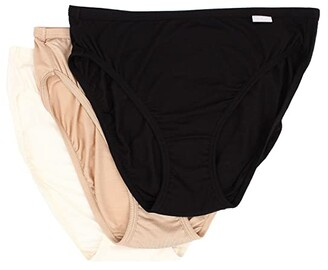 Jockey Elance(r) Supersoft French Cut 3-Pack (Black/Light/Ivory) Women's Underwear