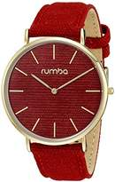RumbaTime SoHo Denim Crimson Analog Display Japanese Quartz Watch