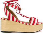 Sonia Rykiel striped platform sandals - women - Cotton/Leather - 36