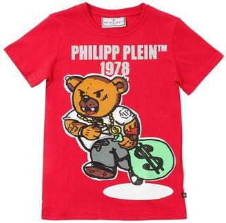 Philipp Plein Junior Printed Cotton Jersey T-shirt