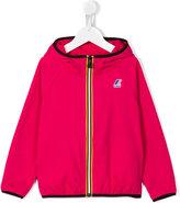 K Way Kids - logo print hooded jacket - kids - Cotton/Polyester - 3 yrs