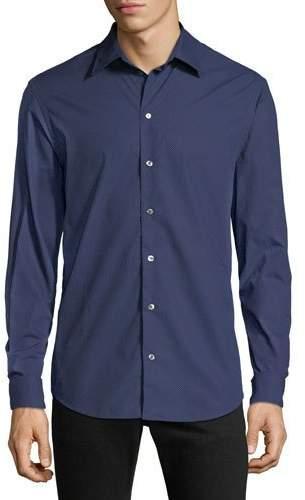 Emporio Armani Men's Pin-Dot Sport Shirt