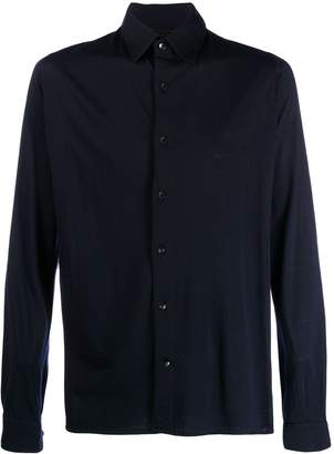 Caruso plain long-sleeved shirt