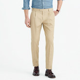 J.Crew Bowery pleated chino