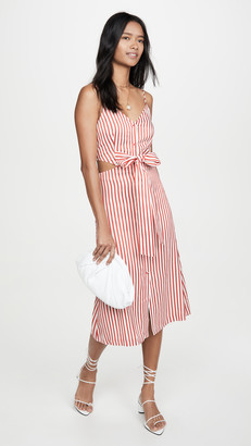 Jason Wu Fluid Stripe Front Tie Dress