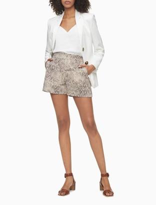 "Calvin Klein Printed Soft 4"" Shorts"