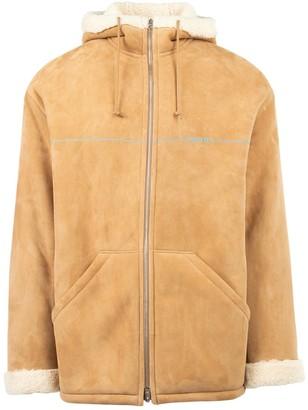 Prada Zip Up Leather Jacket