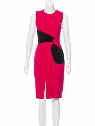 Prabal Gurung Two-Tone Knee-Length Dress Magenta