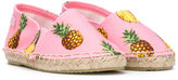 Dolce & Gabbana pineapple print espadrilles - kids - Leather/Canvas/rubber - 29