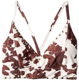 Jessica Simpson Rodeo Cropped Cami Top (Brick) Women's Swimwear