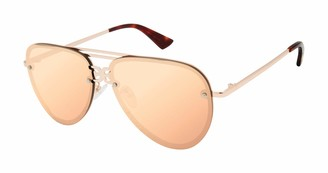 Sam Edelman Women's SE189 Modern Metal Aviator Sunglasses with 100% UV Protection
