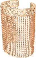 Rebecca Melrose Yellow Gold Over Bronze Mesh Bracelet