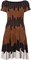 Yigal Azrouel Geometric Chenille Knit Dress