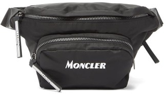 Moncler Durance Logo-embroidered Cross-body Bag - Black