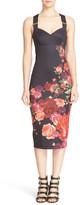 Ted Baker Meric Juxtapose Rose Body-Con Midi Dress