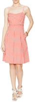 Lafayette 148 New York Clarice Inverted Pleat Gingham Dress