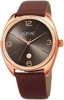 August Steiner Men's Quartz Stainless Steel and Leather Casual Watch, Color:Brown (Model: AS8231RGBR)