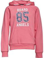Board Angels Girls Hoody With Floral 85 Print Pink