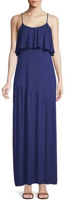 Rachel Pally Goldee Flounced Popover Maxi Dress