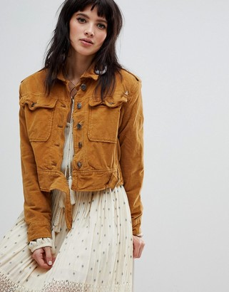 Free People Everlyn denim jacket-Orange