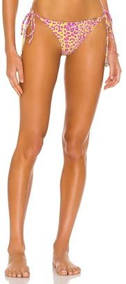 Luli Fama Wild Sweetheart Seamless Ruched Back Brazilian Bikini Bottom