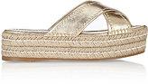 Prada Women's Crisscross-Strap Platform Espadrille Sandals