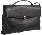 Botkier Adele Shoulder (Black Cowhide/Satin Brass) - Bags and Luggage