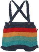 Oeuf Multicolor Striped Shorts W/ Suspenders