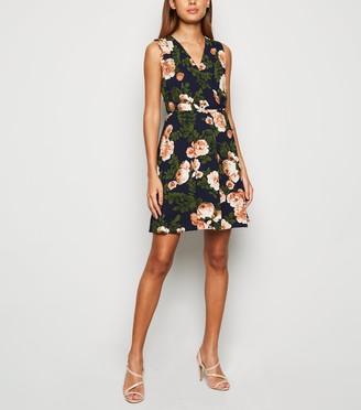 New Look Mela Floral Sleeveless Wrap Dress
