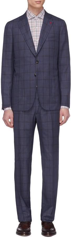 Isaia 'Cortina' windowpane check wool suit
