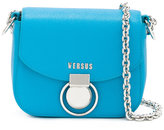 Versus chain strap shoulder bag - women - Cotton/Calf Leather/metal - One Size